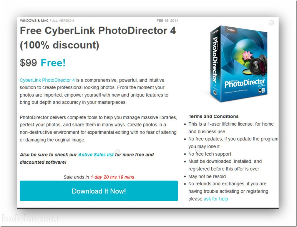 Giveaway CyberLink PhotoDirector 4 | 4gratiz Blog's